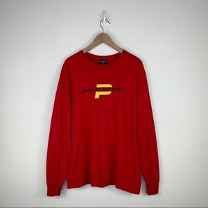 Polo sport vintage long sleeve Red / Yellow